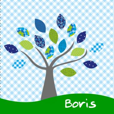 Een kleurrijk geboortekaartje voor een zoon met een boom - Hoe een boom te verlichten ...