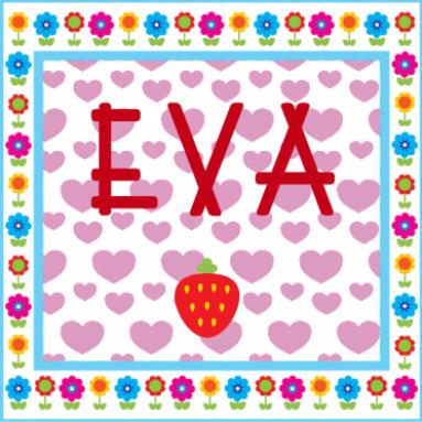 Vrolijk geboortekaartje voor een meisje met hartjes en bloemen - Kantoor voor een klein meisje ...