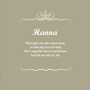 Nieuw Lief Gedichtje Geboorte Dochter | clarasandragina blog CB-63